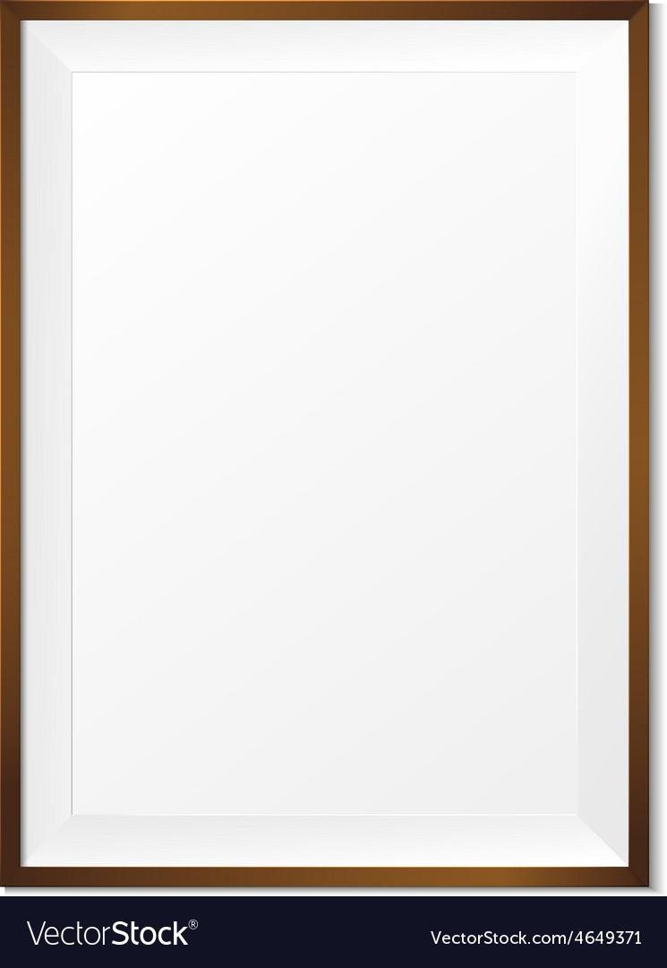 Blank wood photo frame on white background eps10 vector image jeuxipadfo Gallery