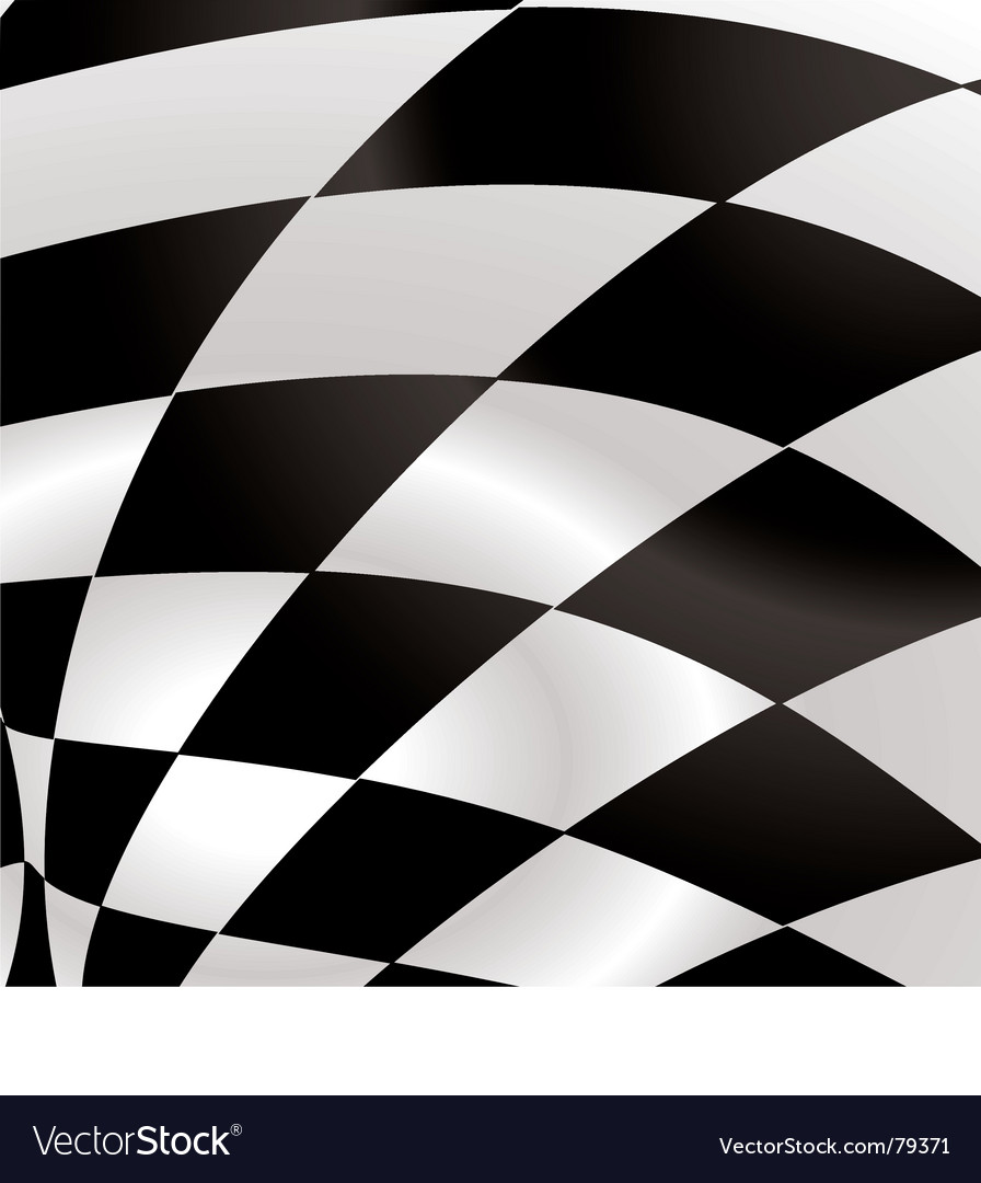 Black and white waved formula flag with ripple effect. Keywords: