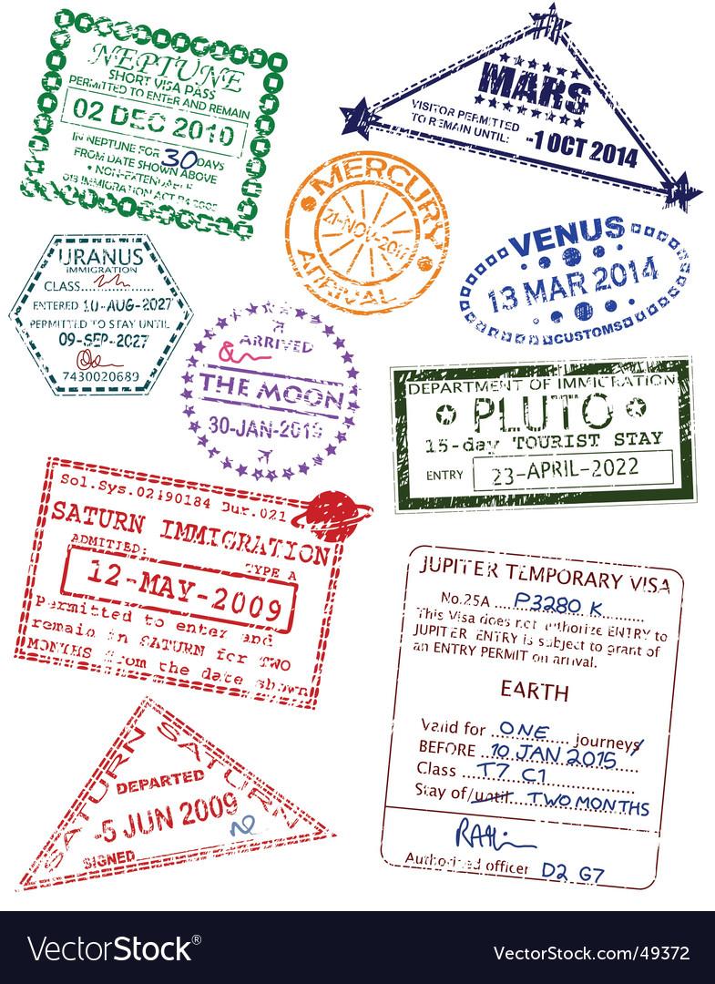 Planet visas vector image