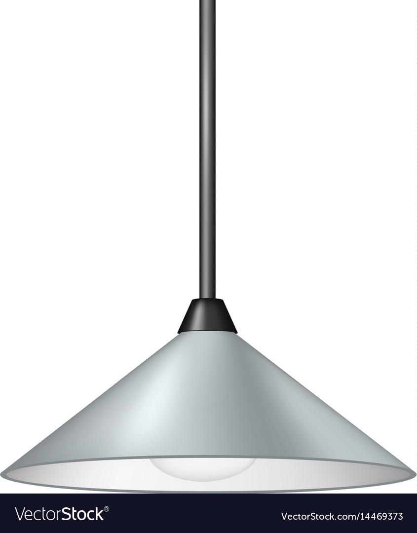 Retro light grey hanging lamp vector image