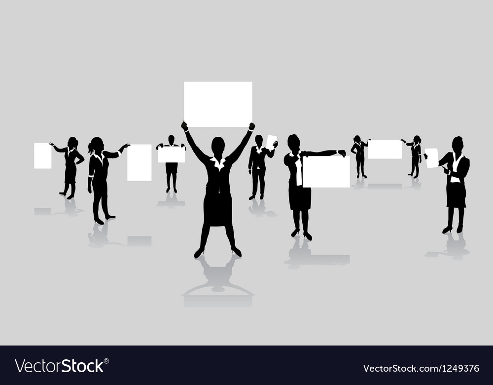 Business women boards vector image