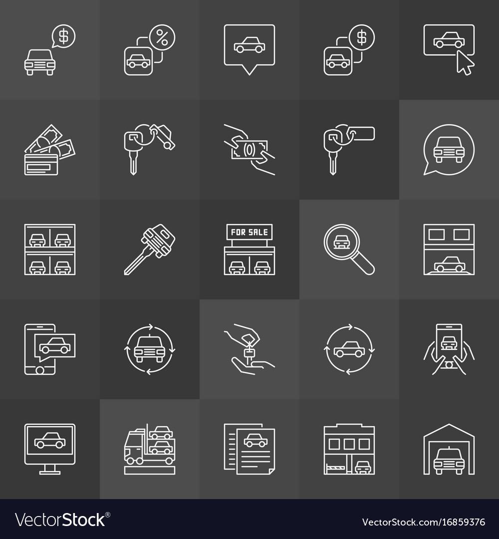 Car dealership icon vector image