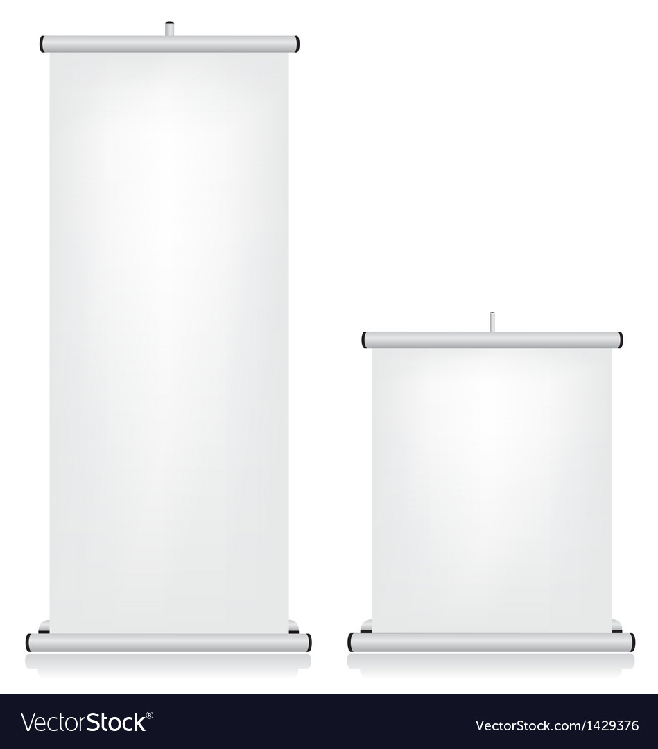Roll up banner white vector image