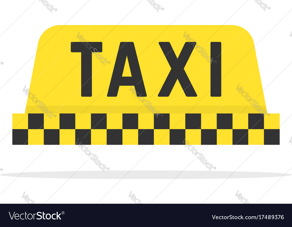 Simple color taxi sign vector image