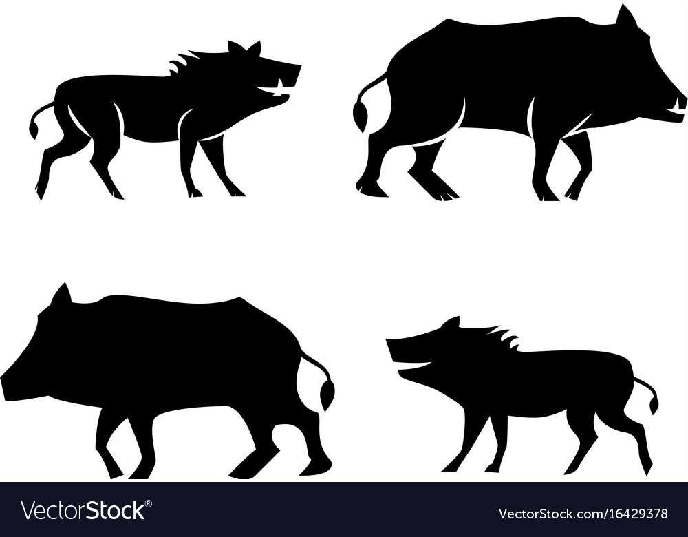 Boar icons and symbol in silhouette style vector image boar icons and symbol in silhouette style vector image biocorpaavc
