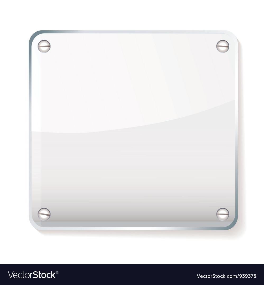 Glass company name plate vector image
