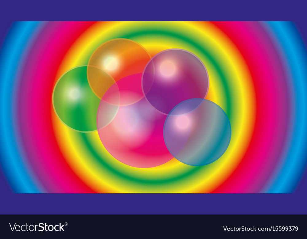 Abstract translucent bubbles vector image