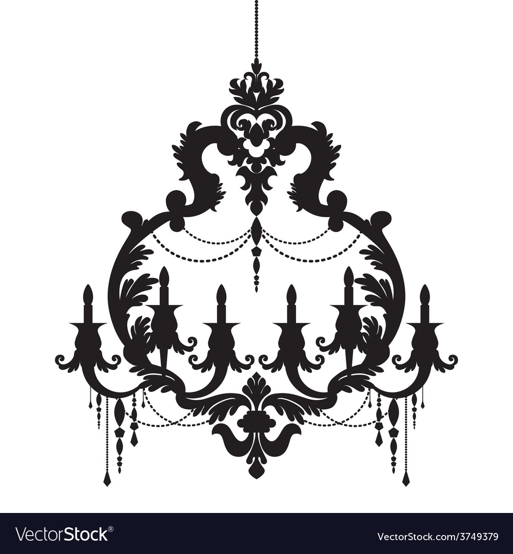 Chandelier silhouette isolated on white background chandelier silhouette isolated on white background vector image aloadofball Gallery