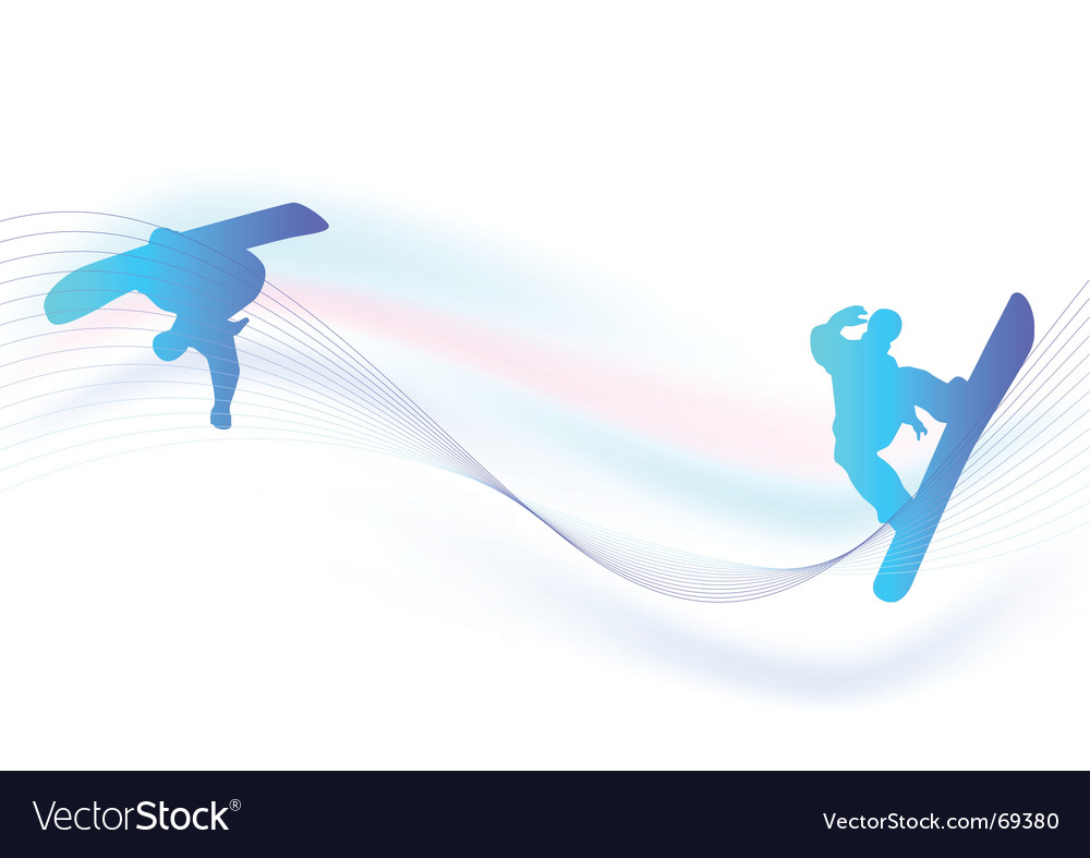 Snowboarder banner vector image