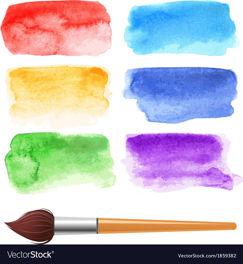Watercolor frames vector image