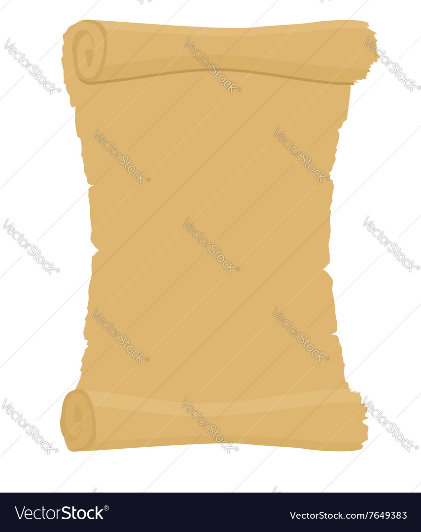 Ancient scroll Empty the old document Archaic vector image