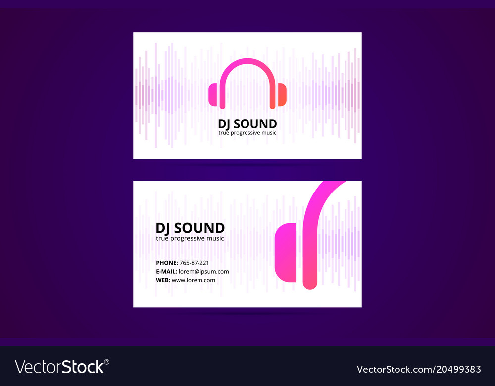 Business card template for dj and music business vector image fbccfo Gallery