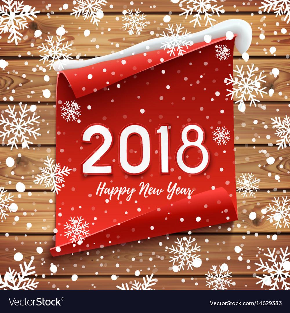 Happy new year 2018 greeting card design vector image kristyandbryce Gallery