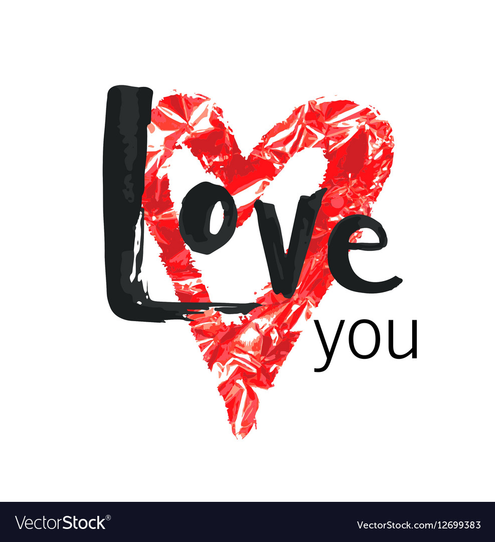 Happy Valentines Day Hand drawn lettering design vector image