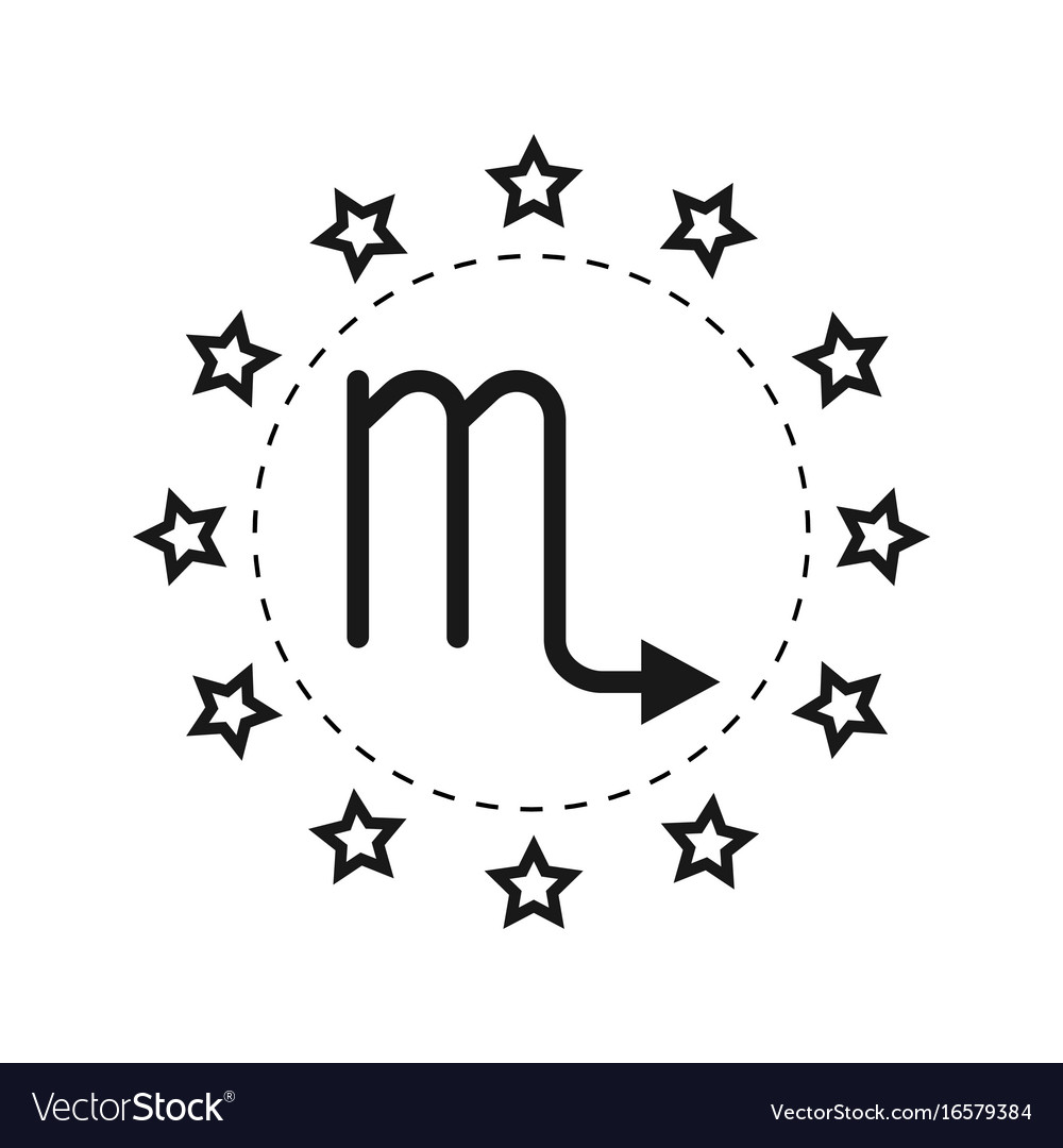 Scorpio sign of the zodiac flat symbol horoscope vector image scorpio sign of the zodiac flat symbol horoscope vector image buycottarizona Image collections