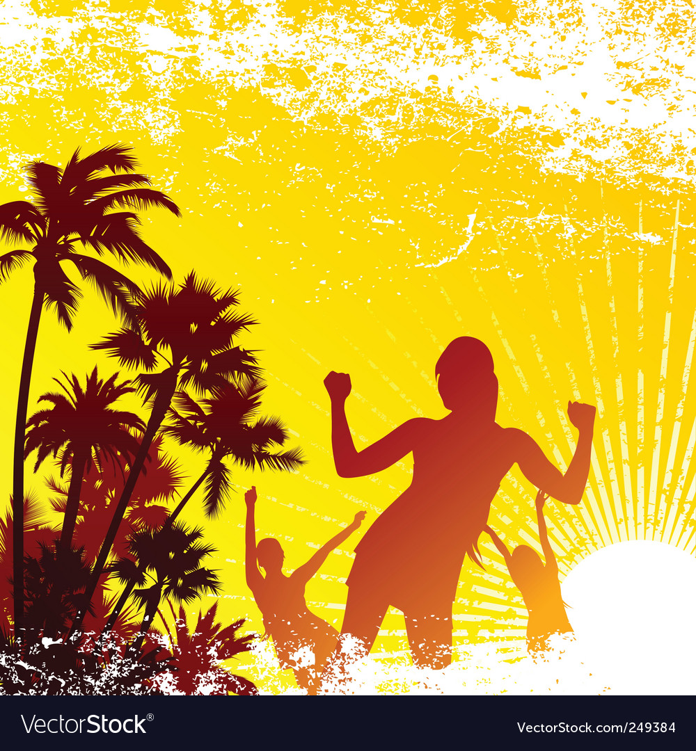 Tropical party vector image