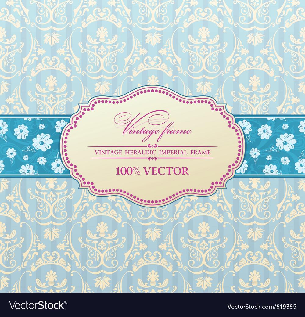 Invitation vintage label vector image