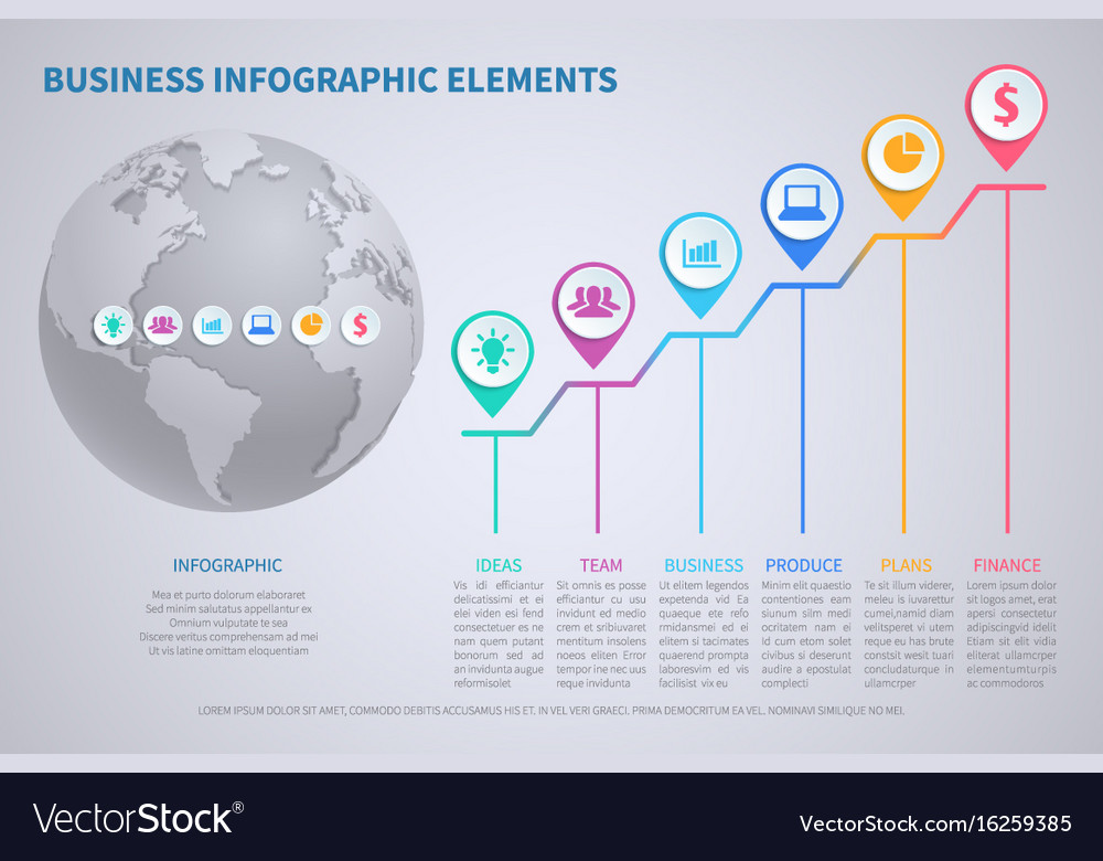 Modern business globalization infographic vector image