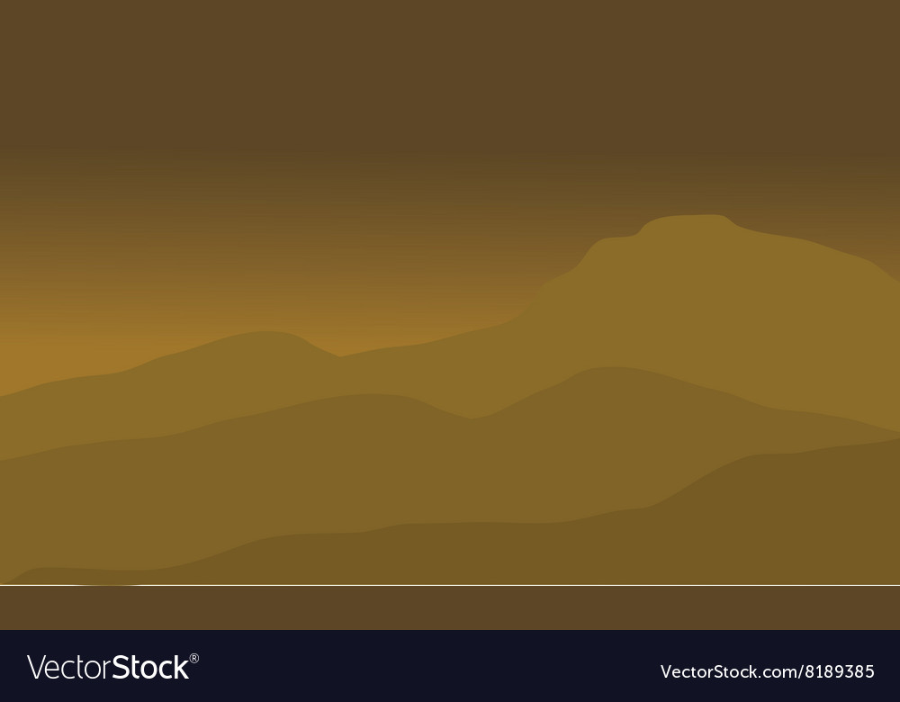 The desert landscape vector image