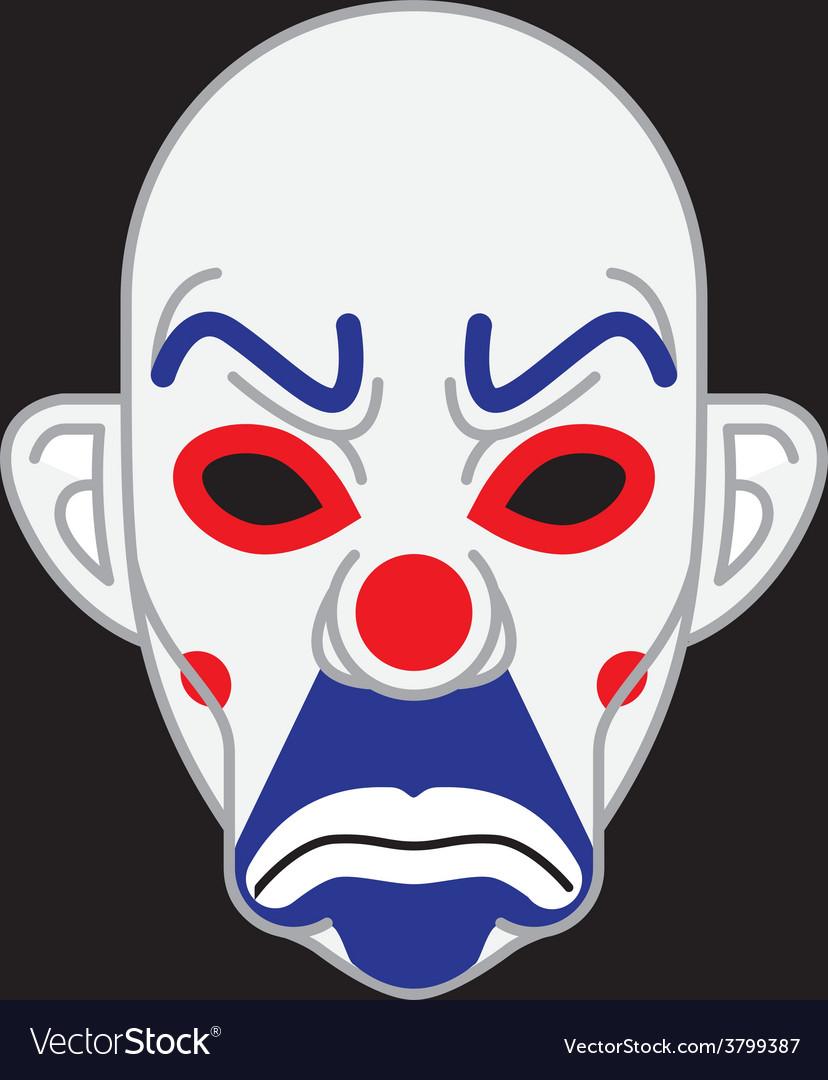 Joker Mask vector image