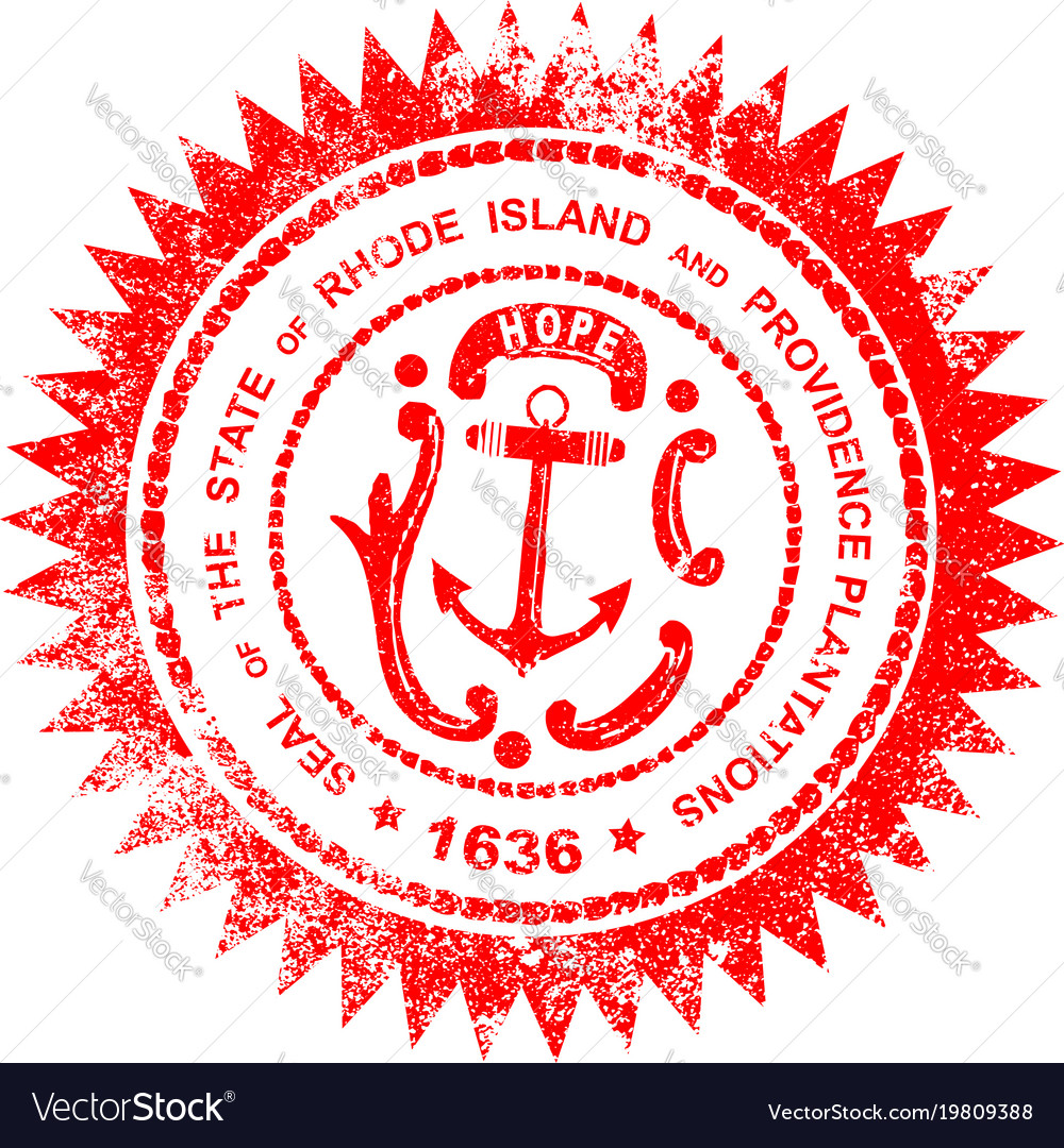 Rhode Island Rubber Stamp Royalty Free Vector Image