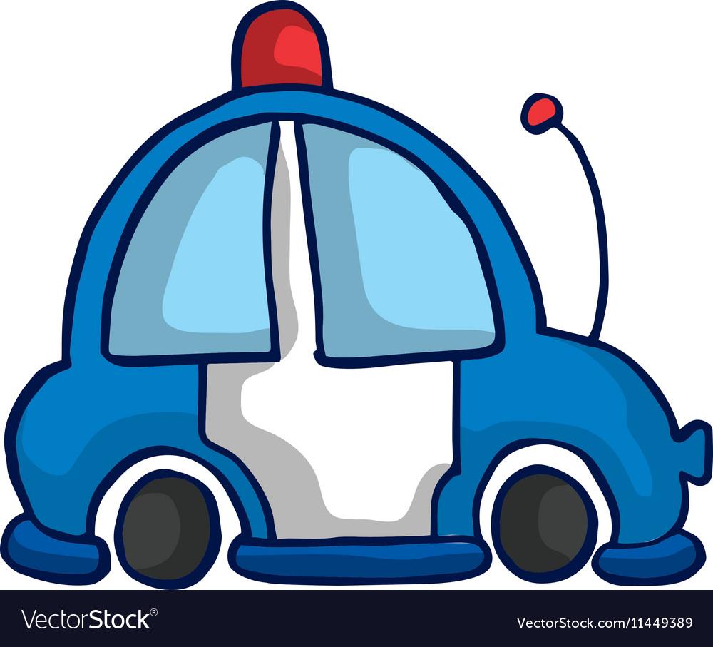 Ambulance car funny vector image