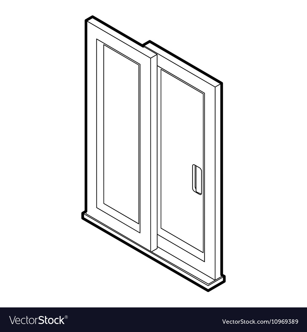 Sliding door icon outline style vector image  sc 1 st  VectorStock & Sliding door icon outline style Royalty Free Vector Image pezcame.com