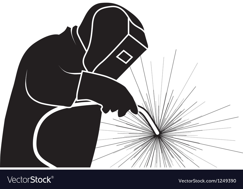 Welder vector image