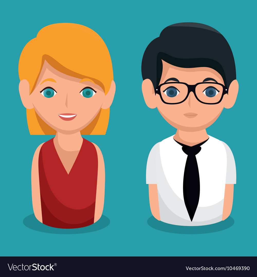 Social network people community icon vector image