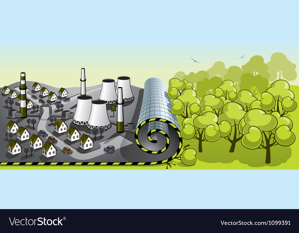 The onset of civilization vector image