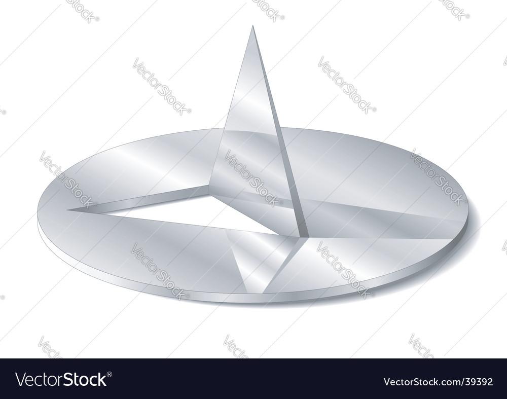 Drawing pin vector image