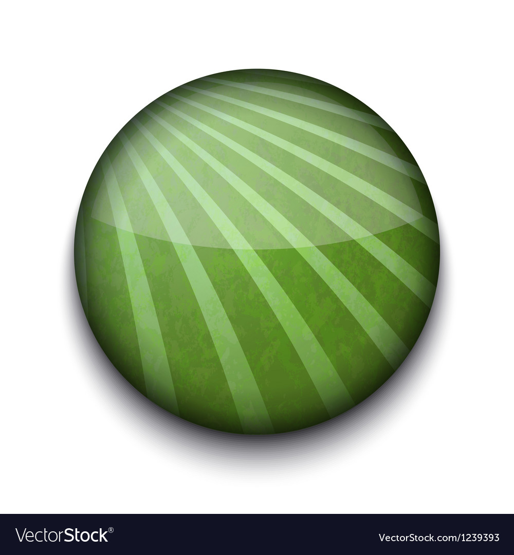 Abstract Green App Icon vector image