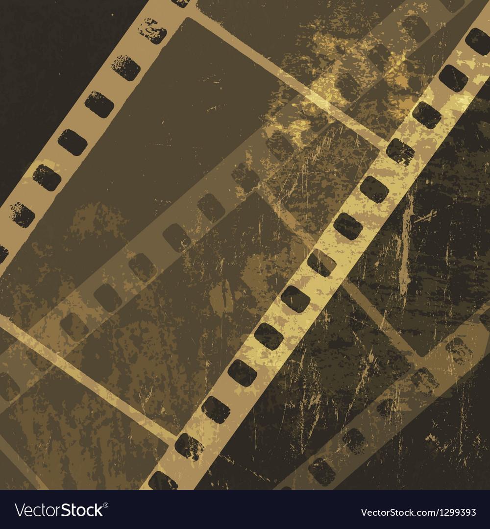 Grunge cinema film vector image
