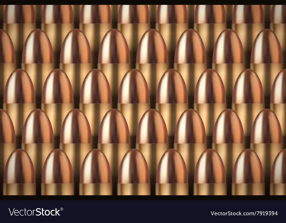Revolver Bullets background vector image