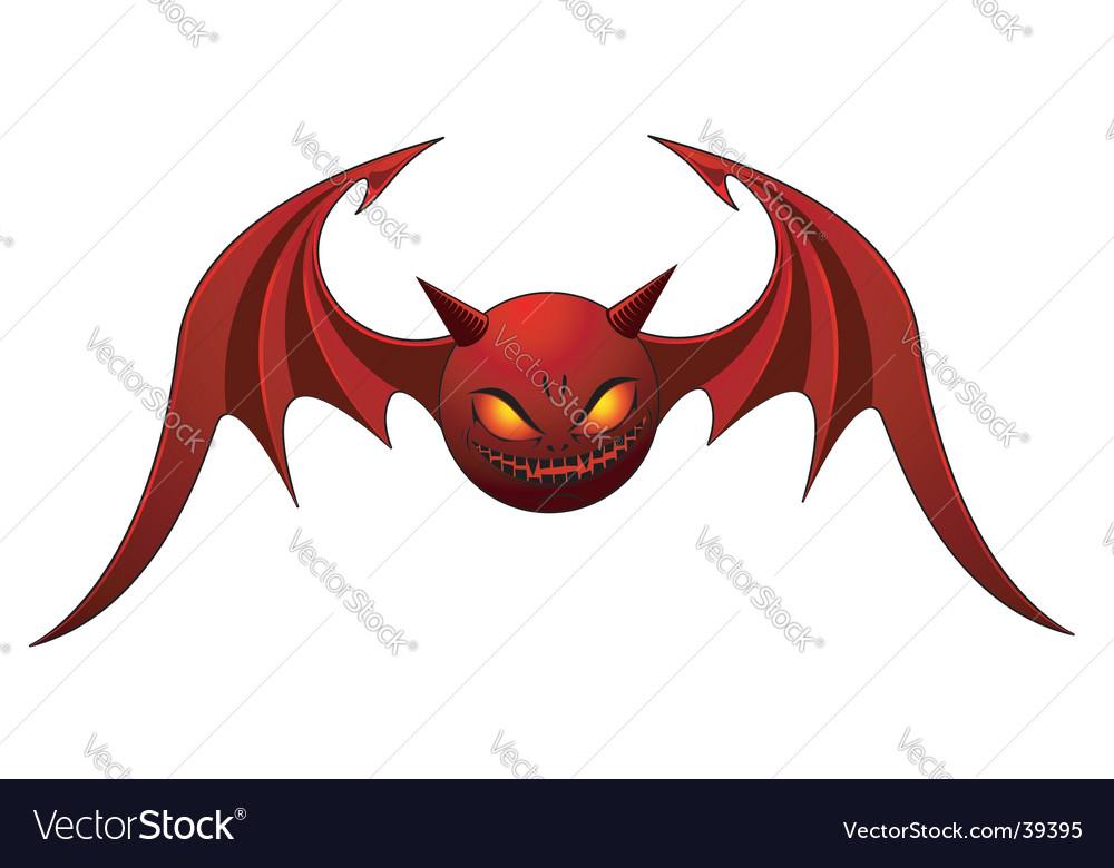 Evil bat Royalty Free Vector Image - VectorStock