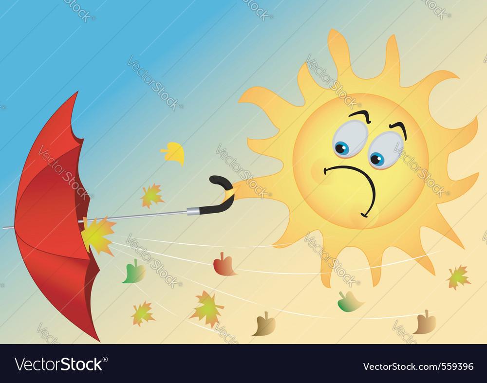 Funny sun vector image
