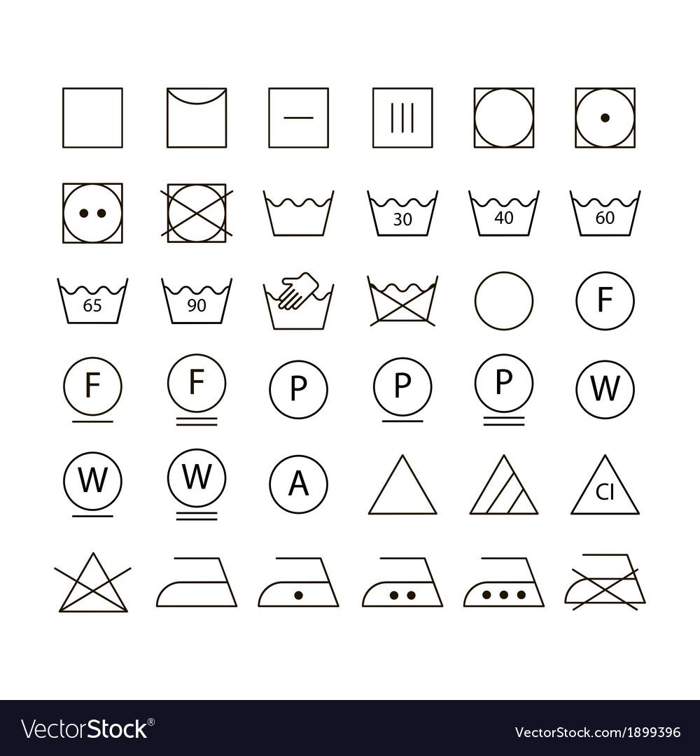 Set of washing symbols royalty free vector image set of washing symbols vector image biocorpaavc Image collections