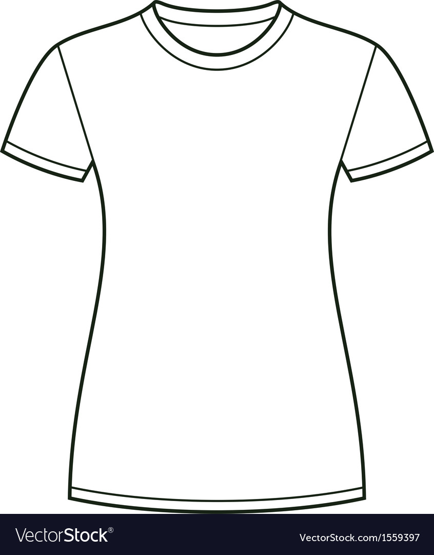 White t-shirt design template Royalty Free Vector Image ...