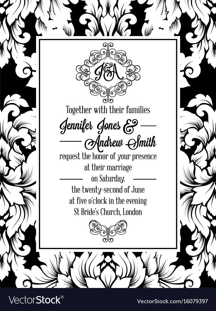 Vintage delicate formal invitation card royalty free vector vintage delicate formal invitation card vector image stopboris Gallery