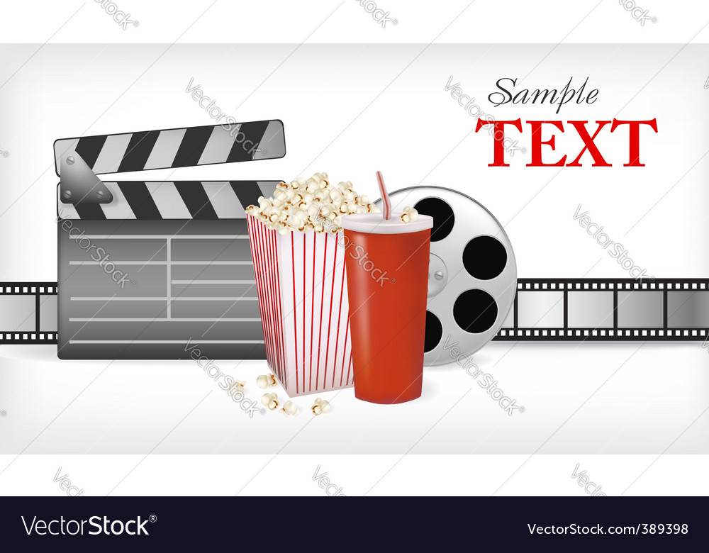 Cinema background with cola vector image