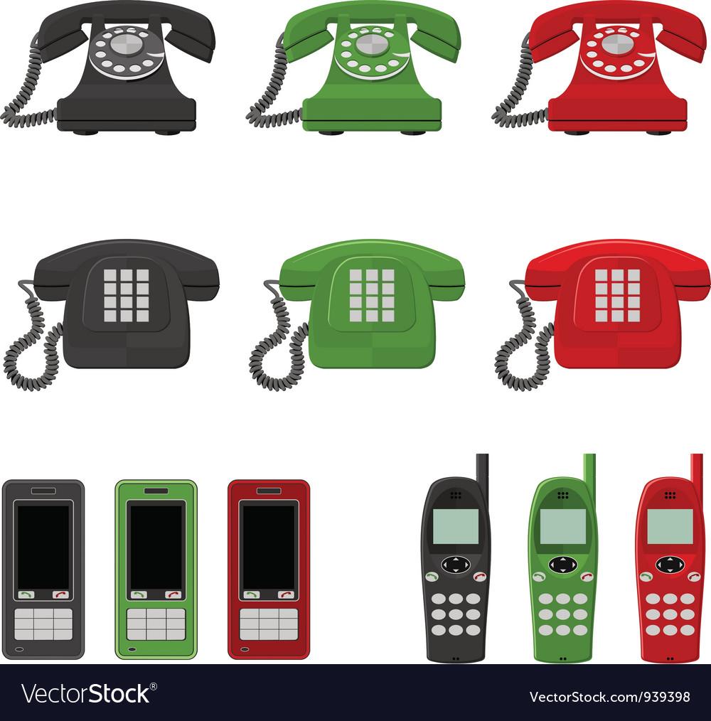Twelve phones vector image