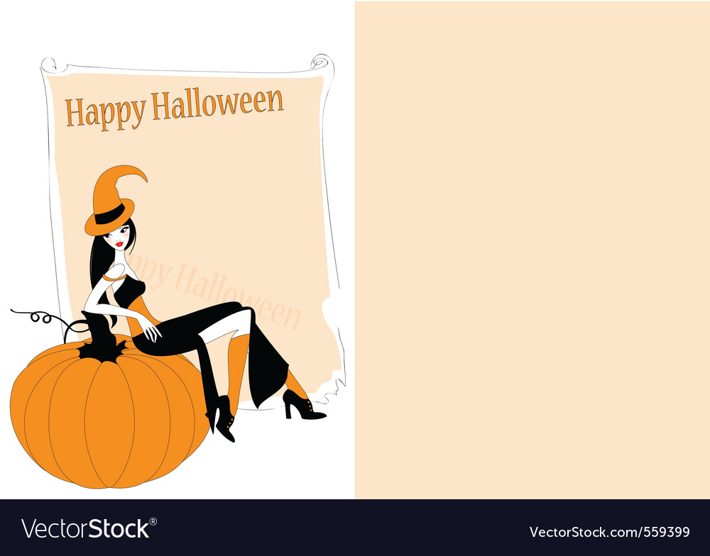 Invitation to halloween party vector image