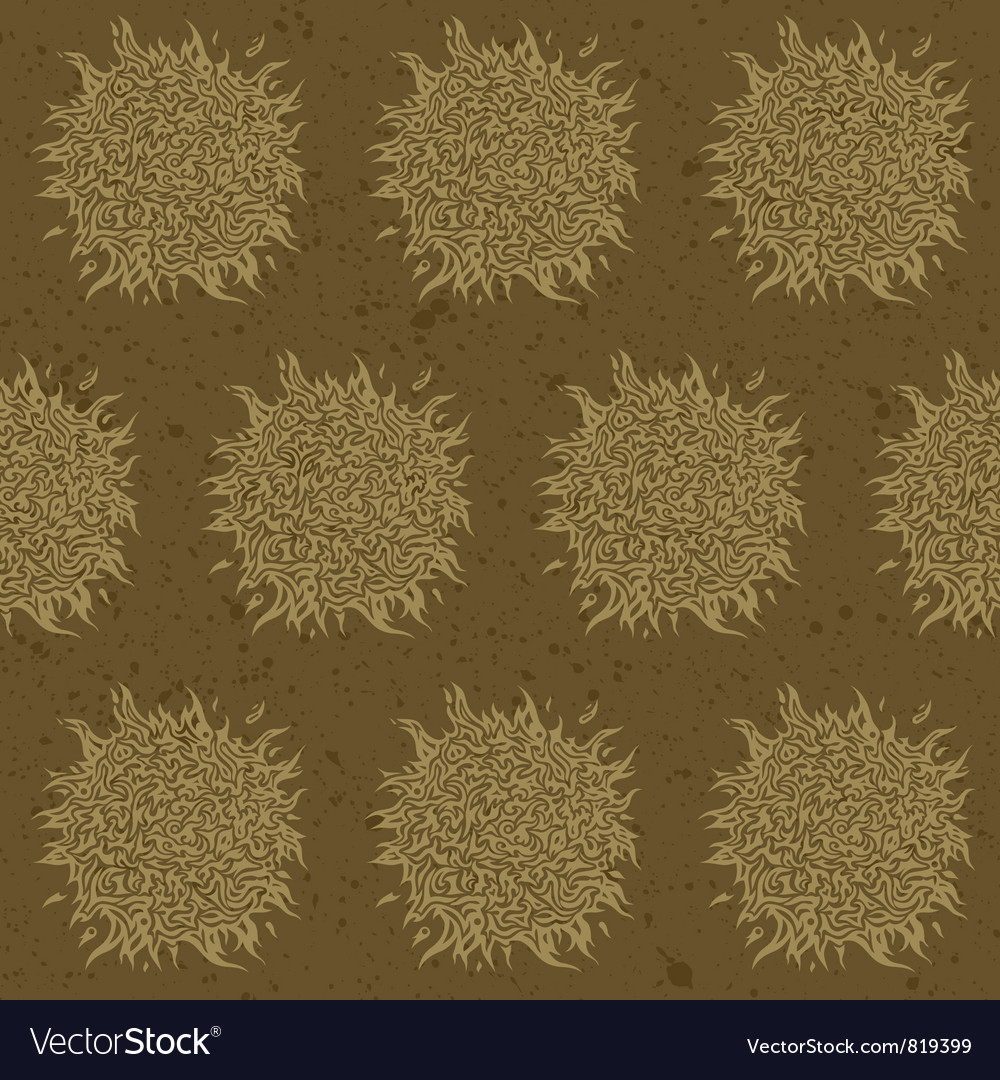 Seamless background vintage Vector Image