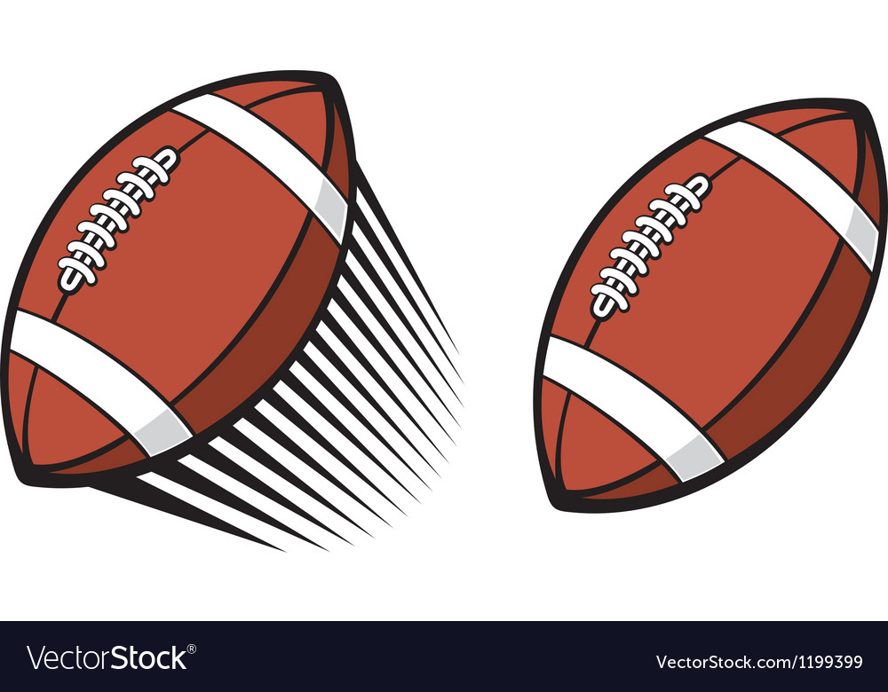 Rugby ball vector image
