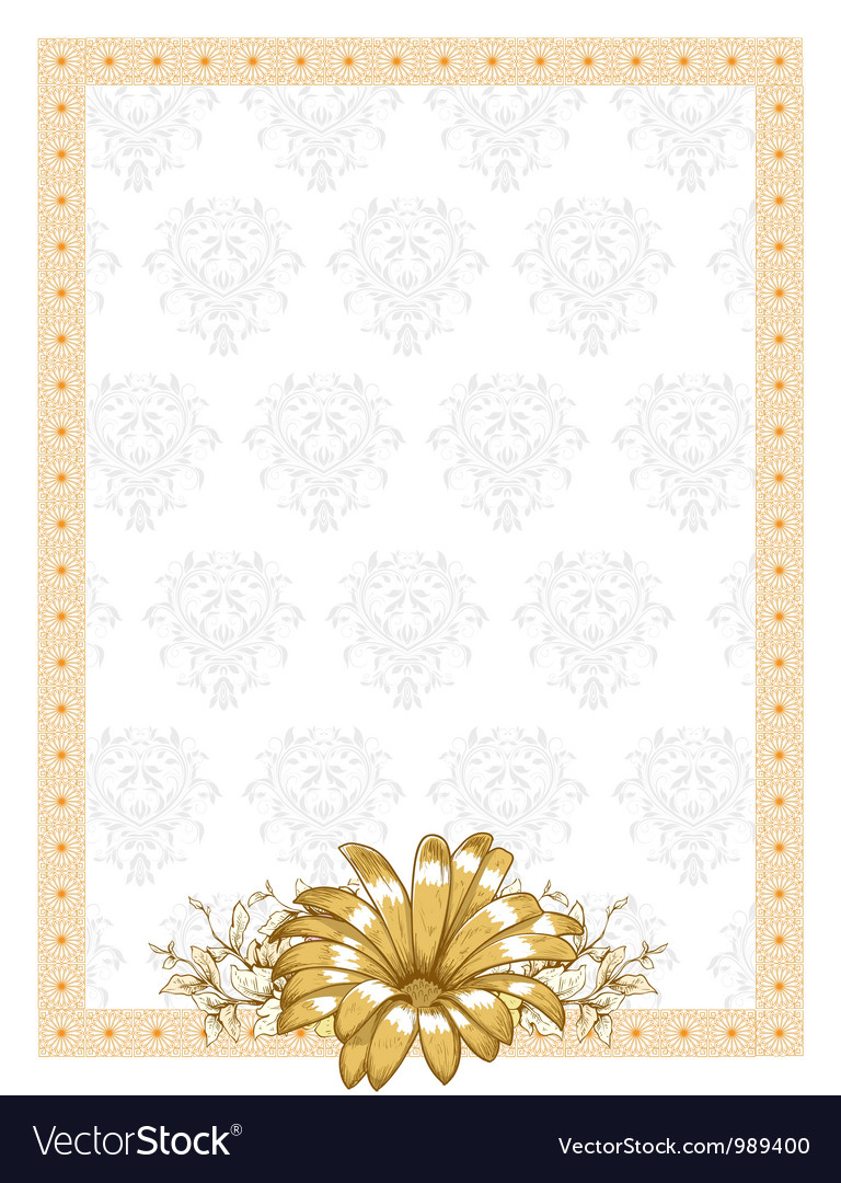 Frame with floral vector image