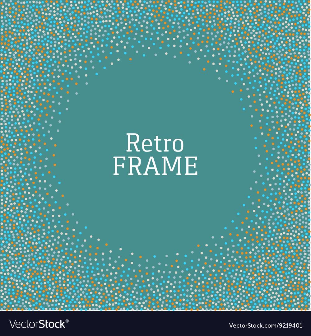 Colorful dot vintage retro frame background vector image