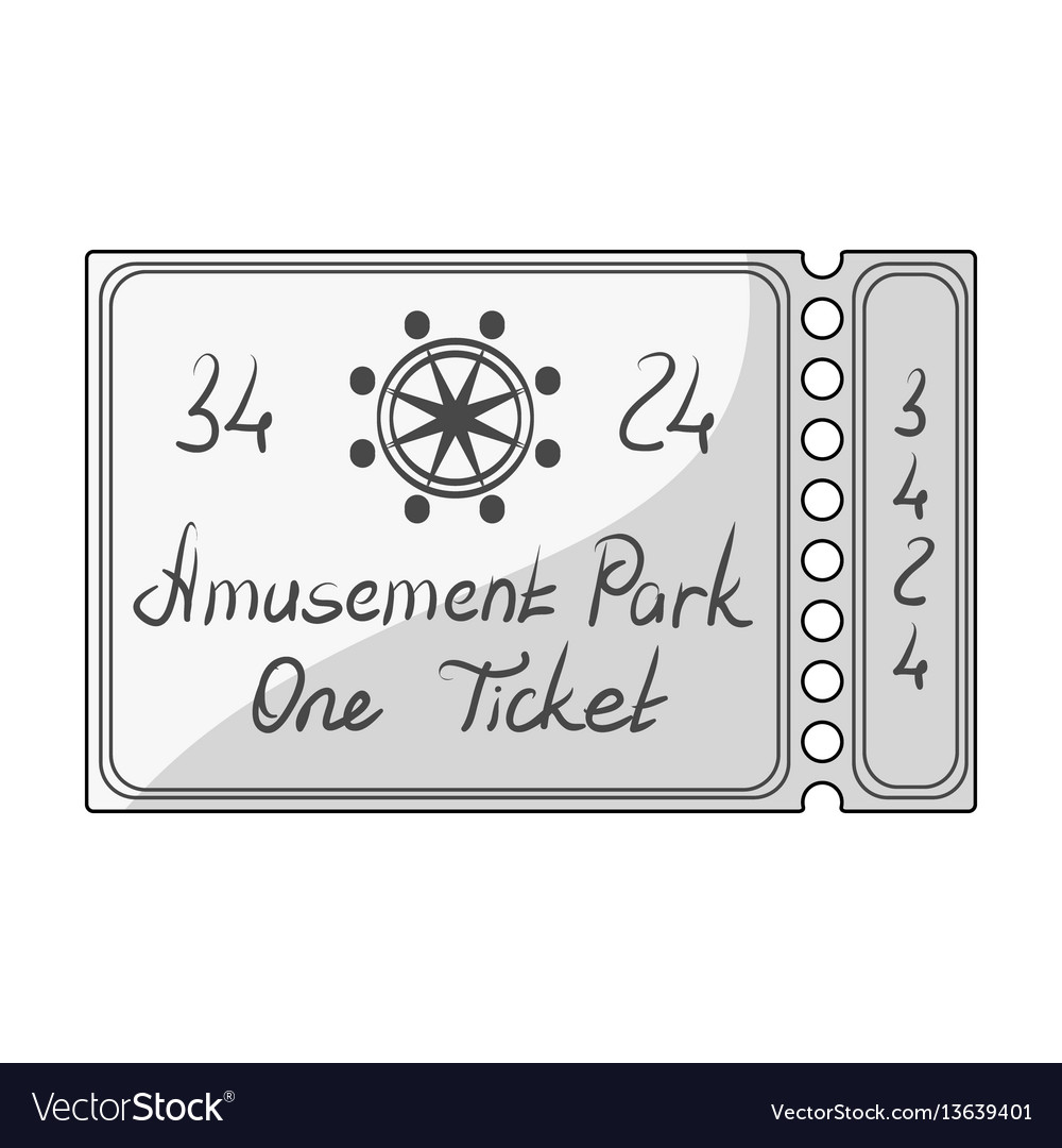 Ticket for passage to the territory of the vector image