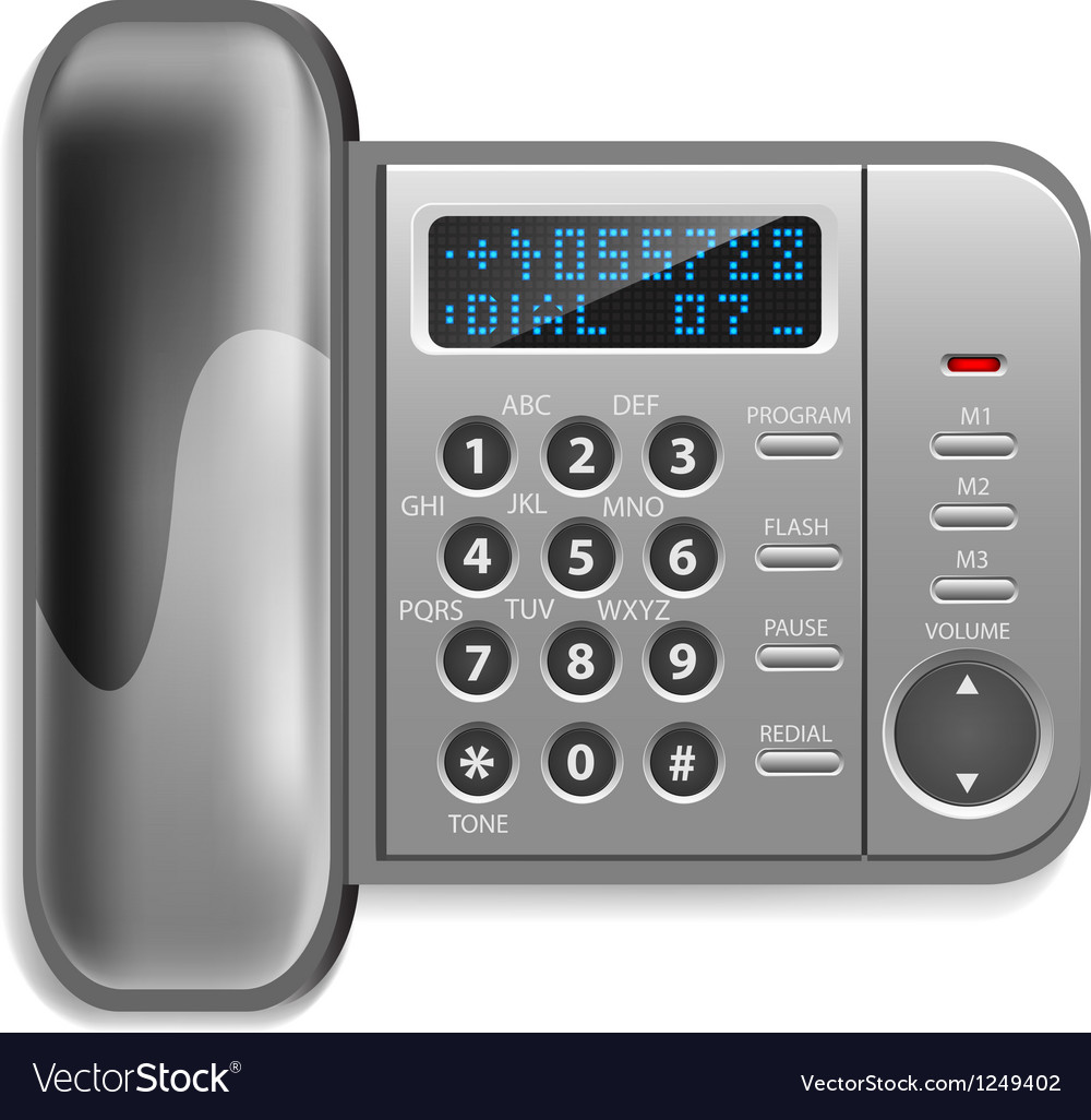Wall-mounted wireless telephone Vector Image