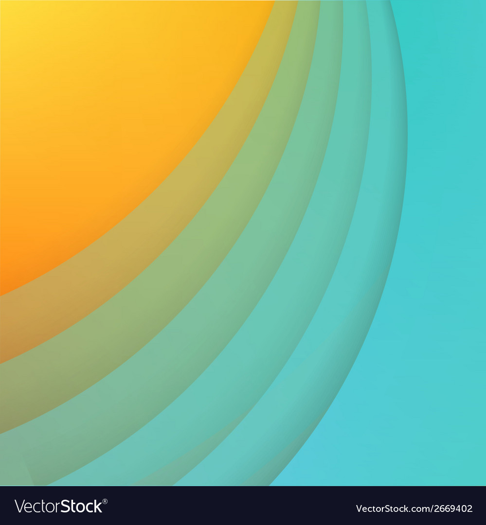 Abstract background with blue paper curves vector image