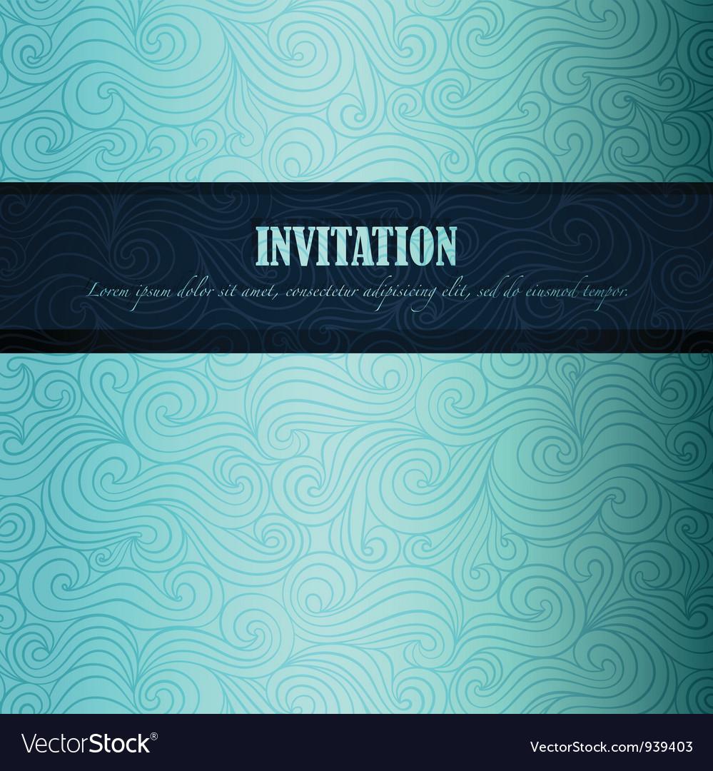 Sea theme invitation vector image